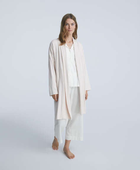 Soft touch comfort feel dressing gown