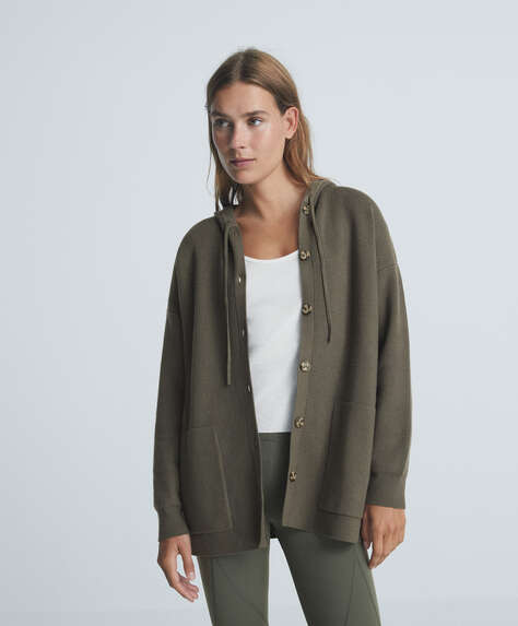 Knit jacket with pockets
