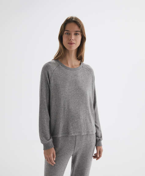 T-shirt à manches longues à rayures comfort feel