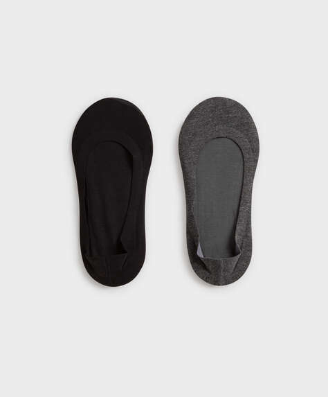 2 pairs of plain cotton footsies