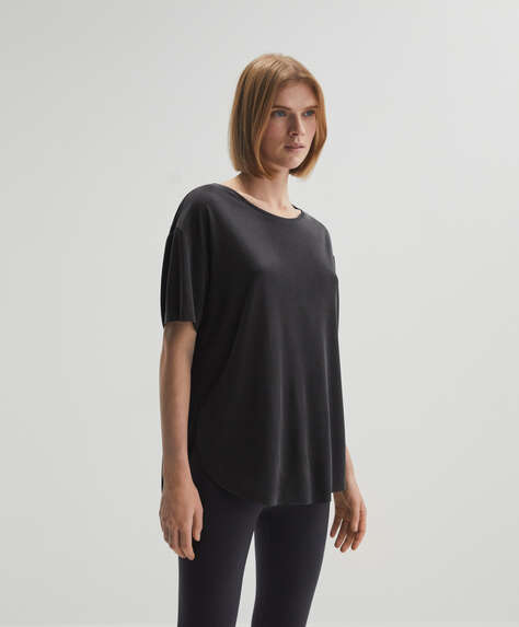 Modal T-shirt with round neck