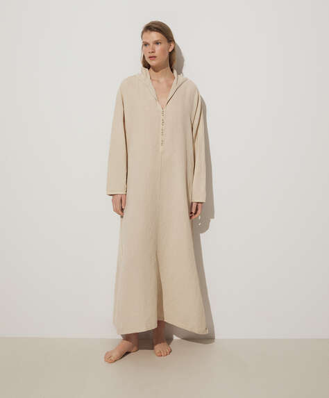 Long linen and cotton tunic