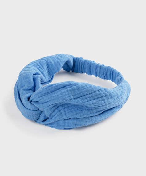 Bandeau uni à nœud 100% coton