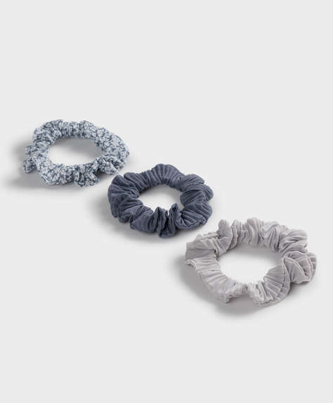 3 floral print scrunchies