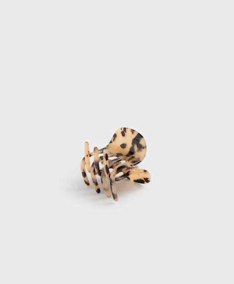 Tortoiseshell-effect hair clasp