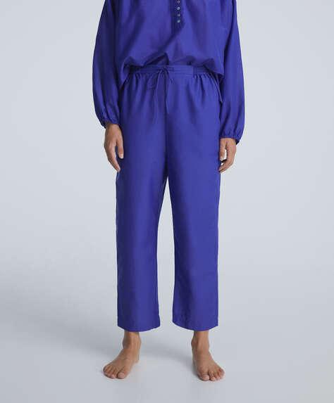 Cotton/silk blend trousers