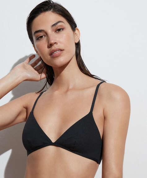 Rib triangle bikini