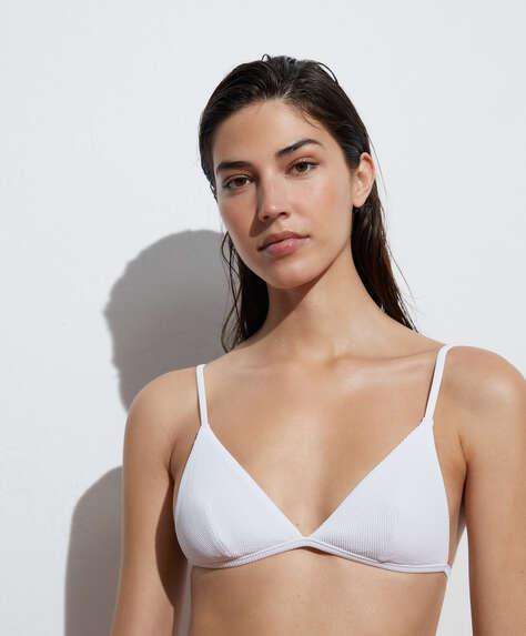 Recycled rib triangle bikini