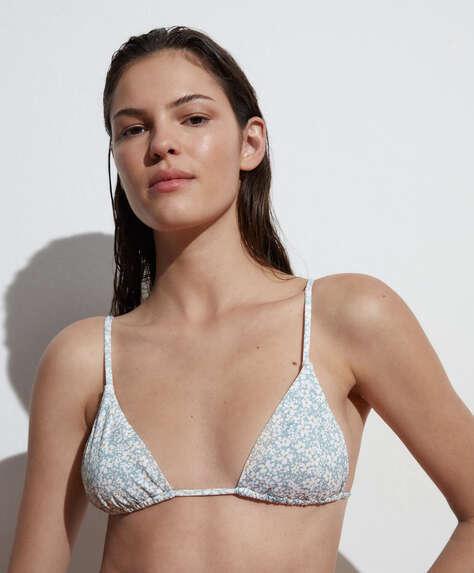 Ditsy floral triangle bikini