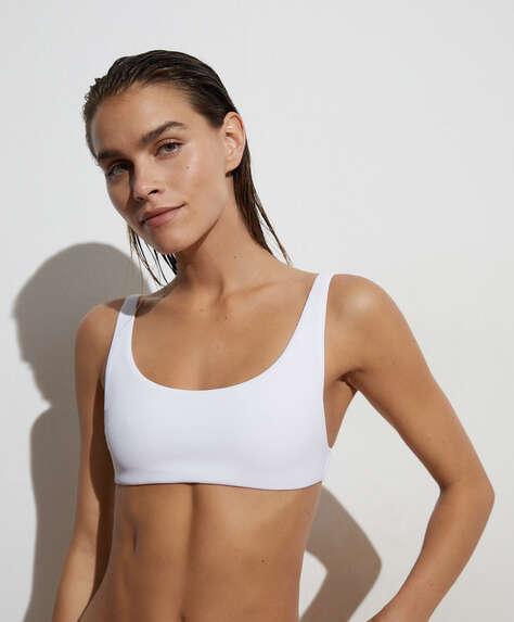 Piqué bikini top
