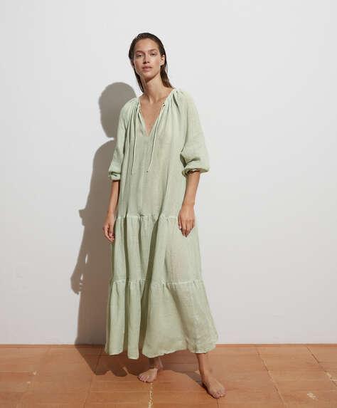 Vestido largo 100% lino