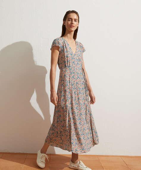 Long cottage floral dress