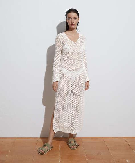Crochet lange jurk van 100% katoen