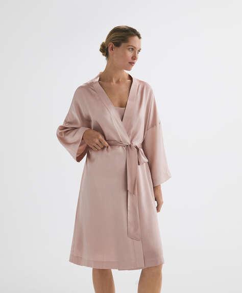 100% silk dressing gown