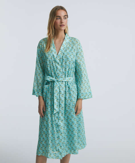 Indian 100% cotton dressing gown