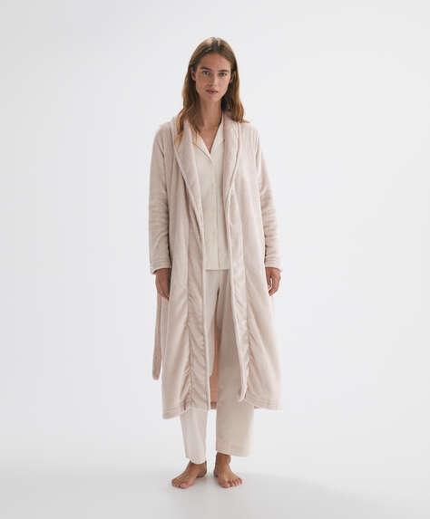 Soft touch fleece dressing gown
