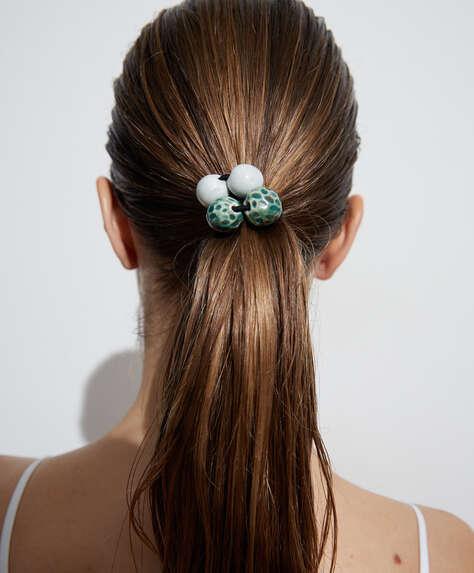 2 beaded hairbands