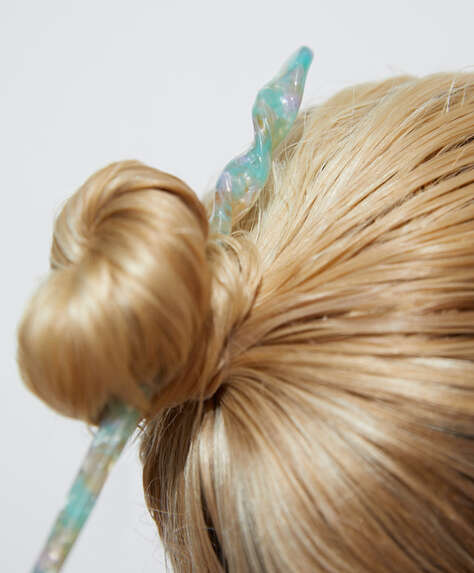 Acetate hair stick