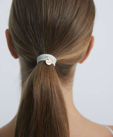 6 Oysho plaque hair ties
