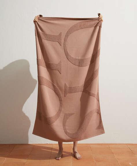 100% cotton Oysho logo towel