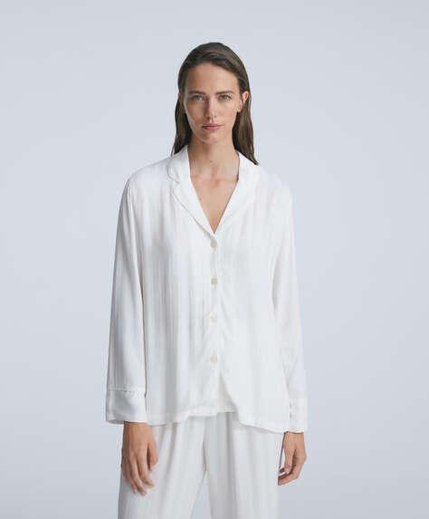 Jacquard stripe long-sleeved shirt
