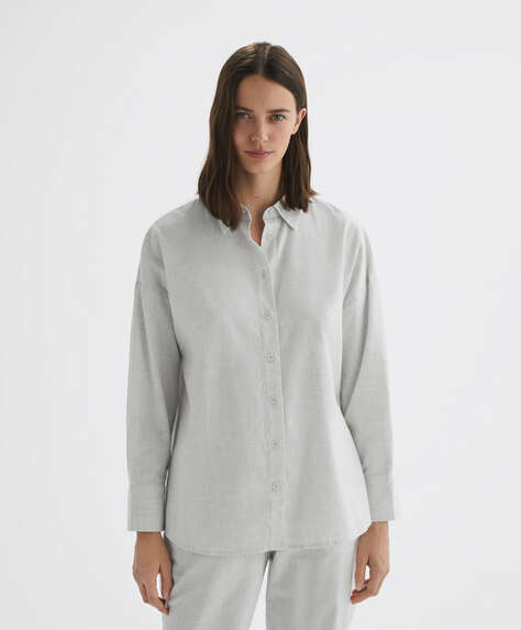 100% cotton long-sleeved shirt