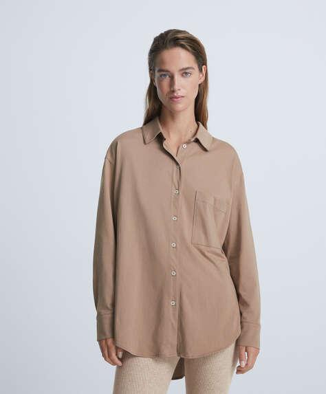 Рубашка в стиле oversize с длинными рукавами