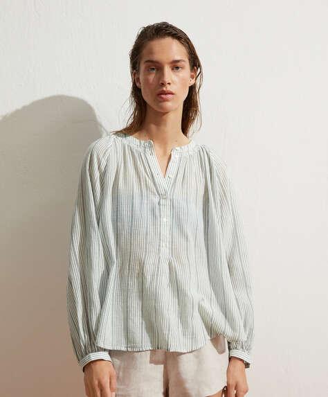 100% cotton striped shirt