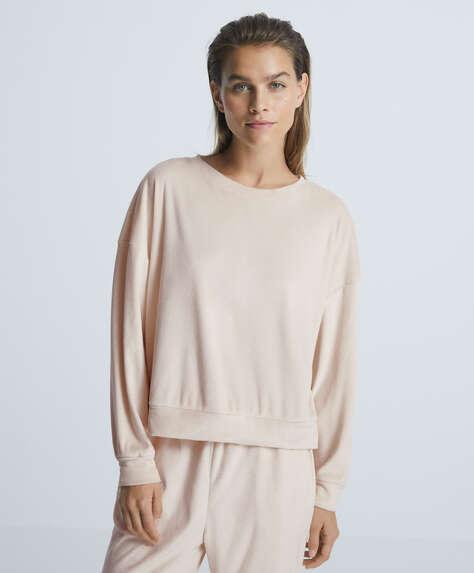 Soft touch velour sweatshirt