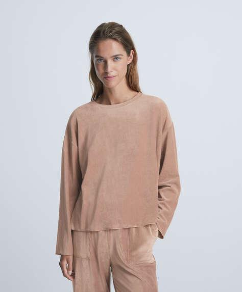 Velour sweatshirt