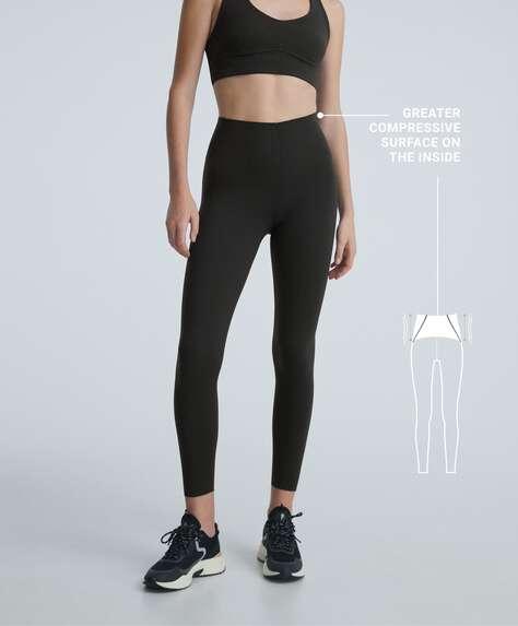 Leggings tobillero compressive waist control clean