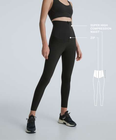 Extra high-rise waist control compressive leggings