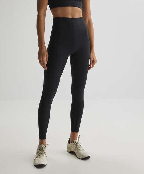 Clean raise up ankle-length compressive leggings