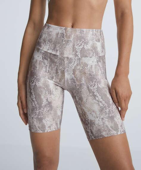 Animal print compressive cycle leggings