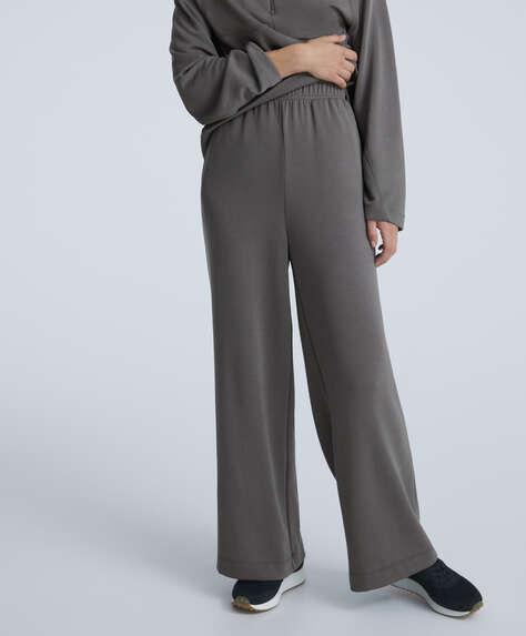 Wide leg modal trousers