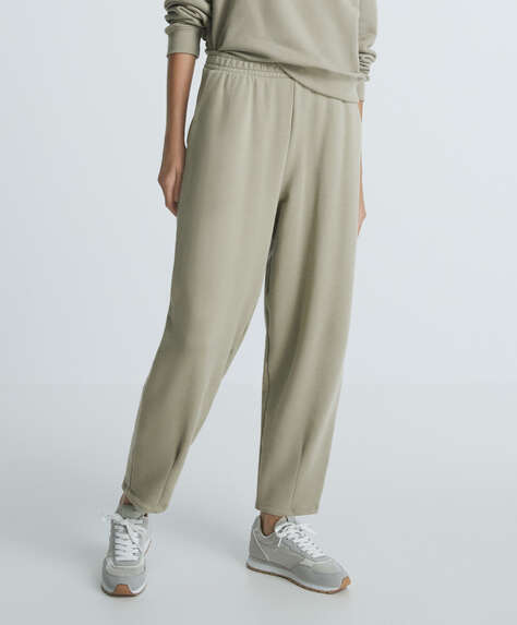 Cotton slouchy trousers