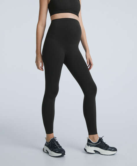 Seamless maternity leggings