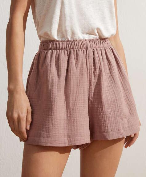 100% cotton chiffon shorts
