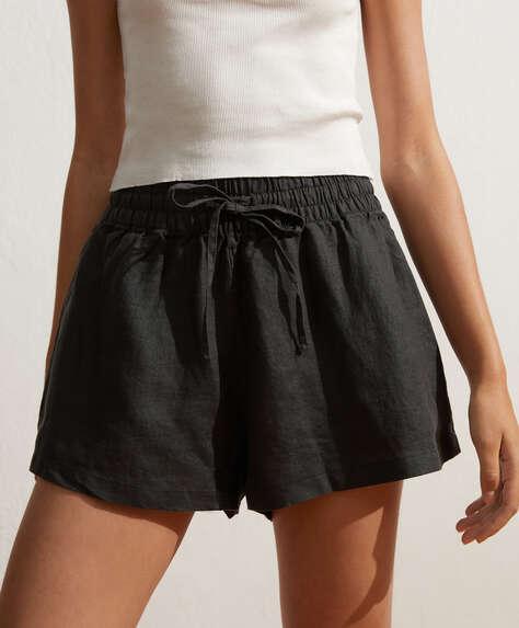 100% linen shorts