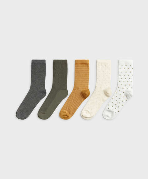 5 pairs of medium fantasy cotton socks