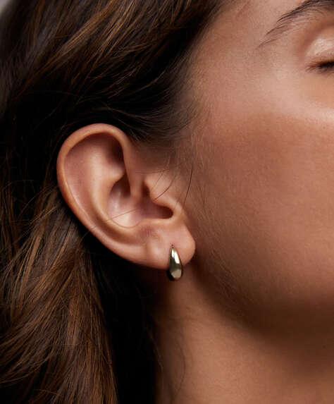 18k gold plated irregular hoop earrings
