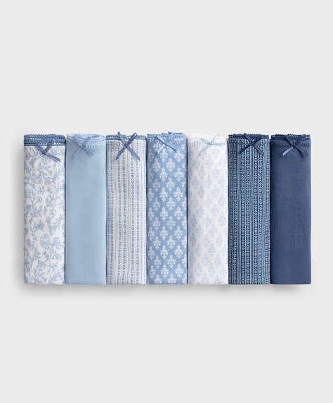 7 klassische Slips aus Baumwolle