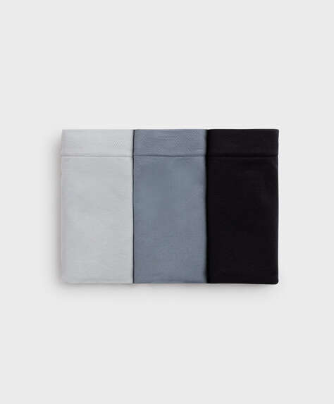 3 seamless soft touch hipster briefs