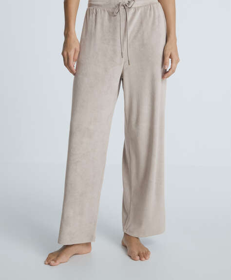 Soft touch velour trousers