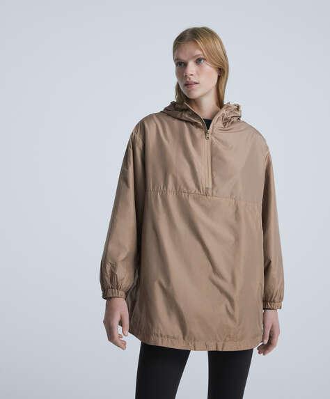 Padded rain coat