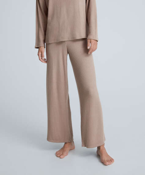 Comfort feel ribbed trousers