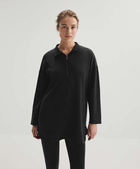 Long soft touch modal sweatshirt