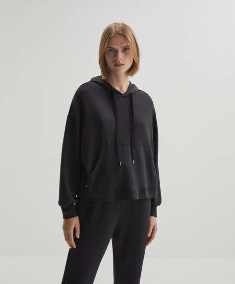Bluza z przyjemnej w dotyku tkaniny modal