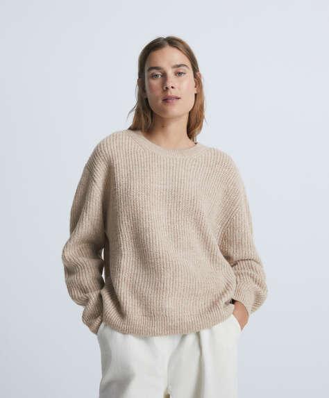Pullover a manica lunga in maglia