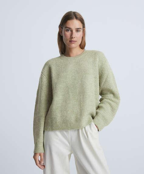 Long-sleeved knit jumper